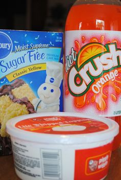 Updated: 1/12th of the cake (sugar free Pillsbury cake mix and 2 TBSP whipped topping) is 5PointsPlus for Weight Watchers.  This pin intr...