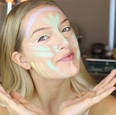 Multi-color correction contouring: get the full makeup how-to here: