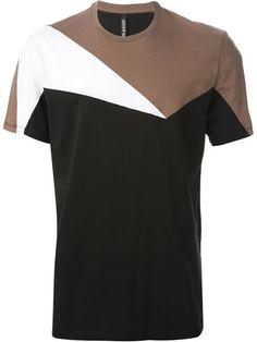 Neil Barrett geometric pattern T-shirt men T-shirt Polo Shirt Outfits, Mens Polo T Shirts, Shirt Men, Shirt Print Design, Shirt Designs, Hip Hop Outfits, Neil Barrett, Mens Clothing Styles, Cool T Shirts