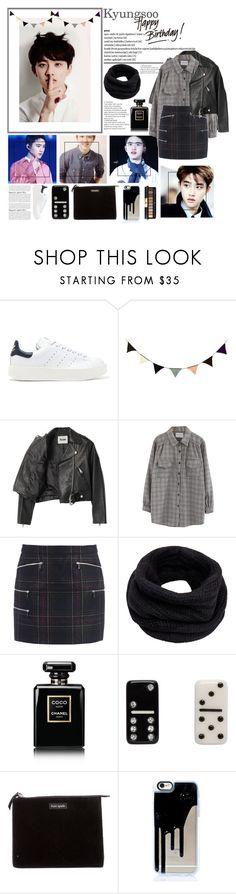 """""""Happy Birthday Kyungsoo [ EXO ]"""" by julia-ngo ❤ liked on Polyvore featuring adidas Originals, ferm LIVING, Acne Studios, Chicnova Fashion, Barbara Bui, Helmut Lang, Chanel, Marc Jacobs, Kate Spade and Yves Saint Laurent"""