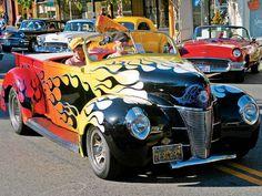 Custom Hot Rods | American Graffiti Petaluma Truck Show Custom Flamed Hot Rod Photo 9