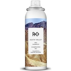 R+Co Death Valley Dry Shampoo  Travel (800 DOP) ❤ liked on Polyvore featuring beauty products, haircare, hair shampoo, beauty, red, styling & treatments, waterless hair shampoo and dry hair shampoo
