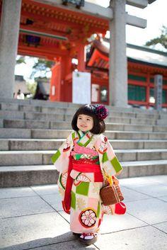 Little girl in kimono