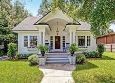 "Sears ""Crescent"" Kit Home in Jacksonville, Florida Cute Cottage, Cottage House Plans, Cottage Living, Cottage Ideas, Style At Home, Rent To Own Homes, Cottages And Bungalows, Cottage Exterior, Cottage Style Homes"