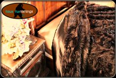 "King / Queen Plush Shaggy Faux Fur Brown Bear Hide Bedspread Comforter Thick Plush Soft  Plush 108""x90"" Ask about our matching Throw Rugs"