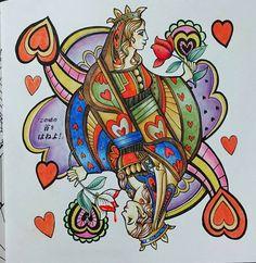 珍しく美人な女王様。 でも言ってることは、相変わらずゲスの極み熟女。  まわりの色、女王の絵と柄のテイスト違ってすごい難しかった~ 悩んだわりに、う~ん…な出来です。。。 #コロリアージュ #大人の塗り絵 #おとなのぬりえ #塗り絵 #不思議の国のアリス #アリス #coloriage #coloring #coloringbook #coloringforadult #color #coloredpencil #alice #aliceinwonderland #escapetowonderland #escapetowonderland_mzc