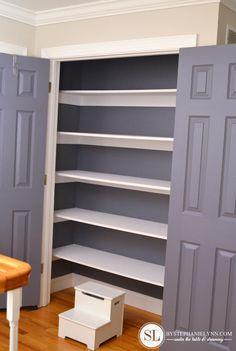 Painted Linen Closet