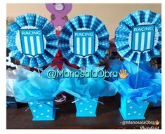 Centros de mesa Racing Club para 18 años. 1st Boy Birthday, Club, Hanukkah, Racing, Flag Football, 60th Birthday Party, Soccer Birthday Parties, Boy First Birthday, Running