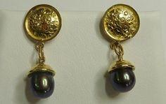 Makers Lane :: Gold Decorative Stud Earrings Custom Made, Bespoke jewellery made in Australia. Bespoke Jewellery, Jewelry Making, Stud Earrings, Australia, Bright, Diamond, Gold, Decor, Decoration