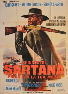 Italian poster for Gianfranco Parolini's IF YOU MEET SARTANA--PRAY FOR YOUR DEATH