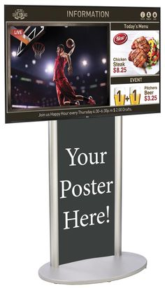 SuperSign TV w/ Media Player, Content Software & Poster Holder - Silver Digital Signage System, Live Tv Streaming, Graphic Design Services, Service Design, Software, Presentation, Content, Templates, Times