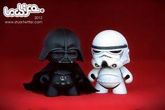 Vader and Stormtrooper vinyl toys