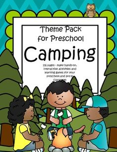 This Is A Comprehensive Set Of Printables With Camping Theme For Preschool And Pre