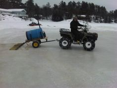 Homemade ice resurfa