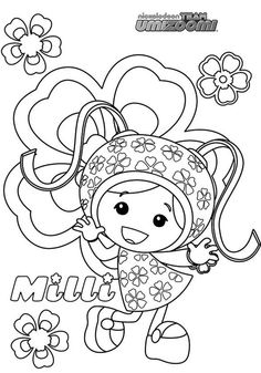 team umizoomi milli from team umizoomi coloring page - Team Umizoomi Coloring Pages