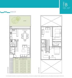 Apartment Floor Plans, Duplex Apartment, House Floor Plans, Townhouse, House Layout Plans, House Layouts, Maison Mca, Architectural House Plans, Compact House
