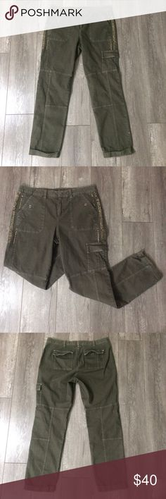 Sundance catalog green cargo pants size 8 These are in good condition but missing quite a few embellishments. Sundance Pants
