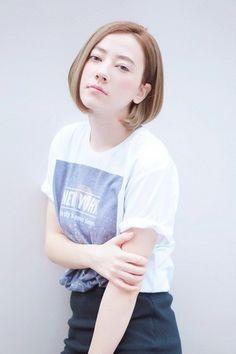 Cute bob hair asian girl