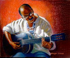 Guitar Man by Roger Trivinos from Art Wanted.com