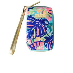 Lilly Pulitzer Tiki Palm iPhone 6/6S Wristlet ($48) ❤ liked on Polyvore featuring accessories, tech accessories, zip wristlet, iphone wristlets, lilly pulitzer, lilly pulitzer wristlet and zipper wristlet