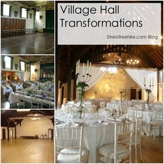 Read about our Village Hall Transformations on the Stressfreehire.com blog www.stressfreehire.com/blog/ #venuetransformers