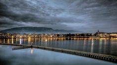 Geneva - winter evening