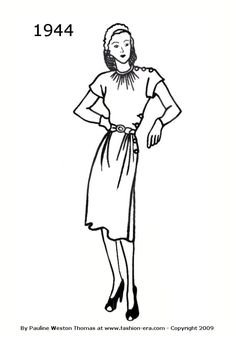 1944 dress silhouet