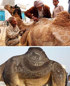 Animal art @ the Bikaner Camel Festival- Rajasthan, India