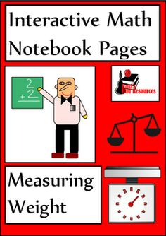 Newly released interactive math notebook lesson on measuring weight - includes a reference page and 5 options for reflection. Download now for just $1.