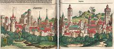 Schedel, Hartmann / Alt, Georg / Wolgemut, Michael: Das buch der Cronicken vnd gedechtnus wirdigern geschichte[n], vo[n] anbegyn[n] d[er] werlt bis auf dise vnßere zeit Nürmberg, 1493 GW M40796  Folio NP/92