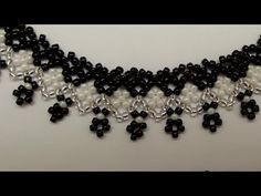 "How to do beaded necklace ""Lace with crosses and bends"" - YouTube"