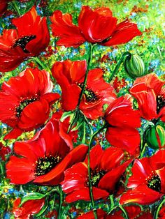 English Poppies by Karin Dawn Kelshall- Best Orange Flowers, Red Poppies, Poppy Flowers, My Flower, Flower Art, Watercolor Flowers, Watercolor Art, Carl Y Ellie, Flower Paintings