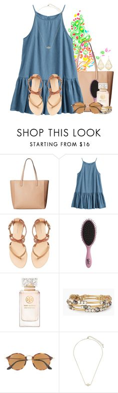 """""""Just getting back from the beach"""" by flroasburn ❤ liked on Polyvore featuring Lilly Pulitzer, Kate Spade, Witchery, Topshop, Tory Burch, Stella & Dot, Ray-Ban and Kendra Scott"""
