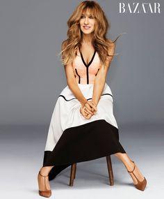 Sarah Jessica wears Balenciaga dress with SJP shoes