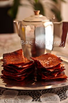 Bak kwa Jerky Recipe @ Not Quite Nigella Asian Snacks, Asian Desserts, Asian Recipes, Chinese Recipes, Malaysian Cuisine, Malaysian Food, Cooking 101, Asian Cooking, Pork Jerky