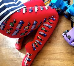 Slugs & snails tights for boys - perfect for under Roo's trousers in this cold weather. I love them and he loves the trucks!!