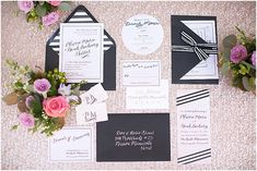 Parisian inspired wedding stationery | Image by Poly Mendes Photography, see more http://www.frenchweddingstyle.com/pretty-parisian-wedding-inspiration/