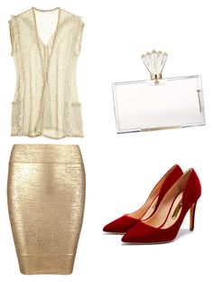 """""""gold"""" by tiba-m-mahmoud on Polyvore featuring Posh Girl, Calypso St. Barth, Rupert Sanderson and Charlotte Olympia"""