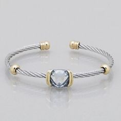 cable cuff bracelet Brand new cable cuff bracelet with crystal accents -  *15% off bundles 3+ Jewelry Bracelets