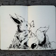 """I'm open to possibilities. I'm open for choices. I'm never going to close my mind from evolving."" #276 Eevee #art #drawing #illustration #pokemon #eevee #tattoo #pokeball #cute #moleskine #doodle #ink #cute #design #graphicdesign #brazil #_picolo"