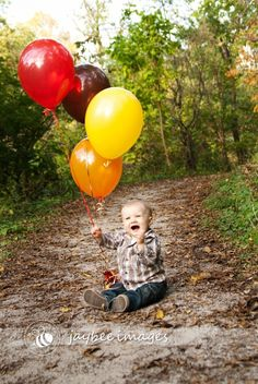 this would be cute and have as many balloons as how old they are :)