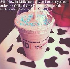 Milkshake city in London has their own One Direction Milkshake!!