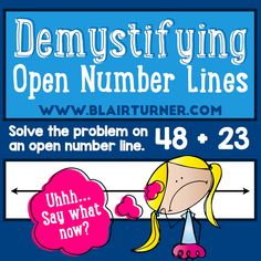 Excellent post on the why and how of open number lines!