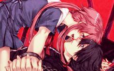 Anime Mirai Nikki Anime Boy Girl Yuno Gasai Love Red Art Yukiteru Amano Wallpaper
