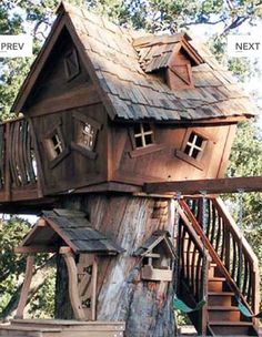 Art Projects for Kids: Cardboard Treehouse