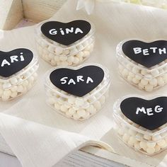 heart shaped favor box with chalkboard top