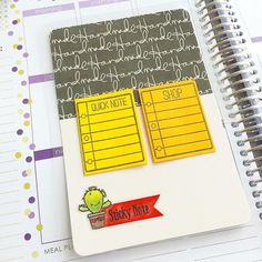 Planner sticky notes and planner dashboard by designer Wan Chin Lim using the Sweet Stamp Shop Take Note and Nod To Mod stamp sets #ssstakenote #sssnodtomod