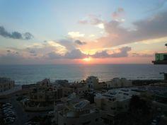 Netanya, Israel. Shore of the Mediterranean.