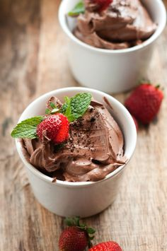 dairy free chocolate mousse...
