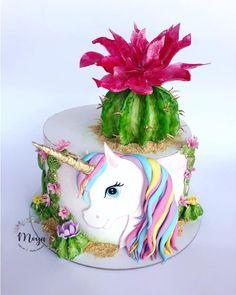 Unicorn cake by Branka Vukcevic My Little Pony Cake, Cactus Cake, Disney Cakes, Cake Decorating Techniques, Girl Cakes, Cute Cakes, Themed Cakes, Party Cakes, Cake Designs
